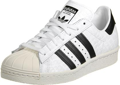 Adidas Originali Da Donna Originali Superstar 80s Da Ginnastica Us5 Bianco