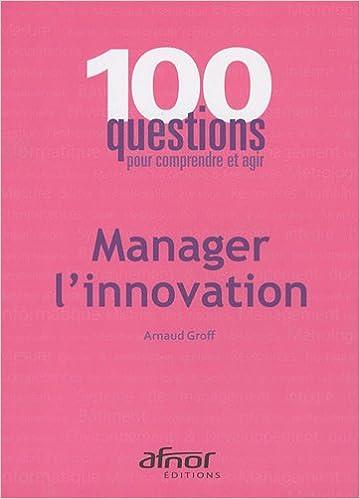 Téléchargement Manager l'innovation pdf ebook