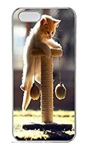 Brian For Iphone 4/4S Phone Case Cover - Fashion Style Cat Playing Black PC Hard For Iphone 4/4S Phone Case Cover Kimberly Kurzendoerfer