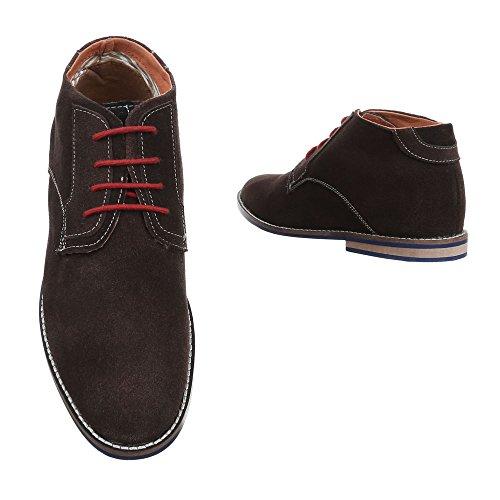 Ital-Design - Zapatos Planos con Cordones Hombre marrón