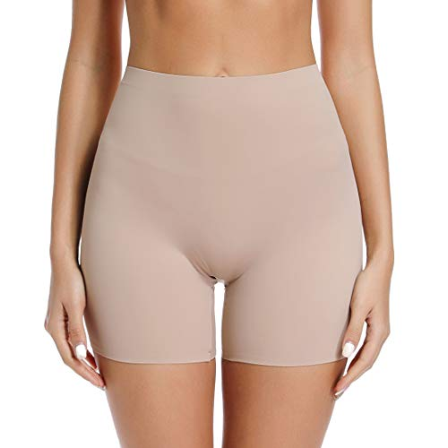 Thigh Slimmer Shapewear Panties for Women Slip Shorts Mid Waist Light Tummy Control Seamless Smooth Boyshorts