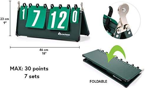 Meteor Segnapunti Tabellone Portatile Scoreboard Sport Cifre Scoreboard Flip Ping Pong Badminton Pallavolo Pallamano Basketball