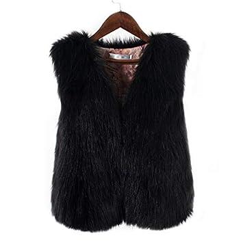 Mujer y Niña Abajo chaqueta Invierno fashion carnaval,Sonnena ❤ Chaleco de piel sintética sin mangas para mujer Abrigo Suelto de Collor Sólido de ...