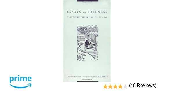 com essays in idleness donald keene books