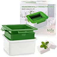 Tofu Press, Easily Remove Water from Tofu for Better Taste, Water Draining, Dishwasher Safe, Tofu Tub Dimension 4.7x3.8x1.5 Inches