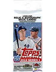 2019 Topps Series 1 MLB Baseball EXCLUSIVE HUGE Factory Sealed JUMBO FAT Pack with 34 Cards including Insert Card! Loaded with Rookies & Cool Inserts! Look for Autographs & Relics! WOWZZER!