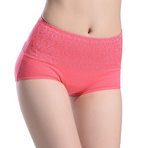 Altura de la cintura las señoras pantalones algodón tela barriga postparto cadera bragas cabeza de códigos,Código:,Negro Rojo de la sandía