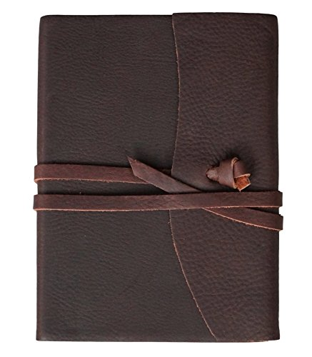 Lined Vintage Wrap (Leather Journal by Preferred Leather - Unique Handmade Writing Journal. A Vintage Style Leather Notebook With Lined Paper.  Perfect for both Men and Women.)