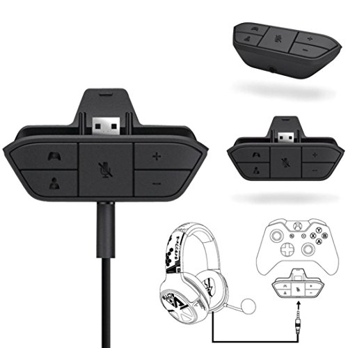 WuyiM Fashion Stereo Headset Headphone Audio Game Adapter For Microsoft Xbox One Controller DR (Black) (Black)