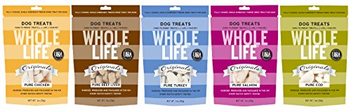 Whole Life Pet Originals Freeze Dried Dog Treat Variety Pack, 5 -1oz Bags