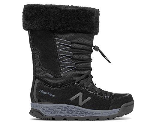 (ニューバランス) New Balance 靴?シューズ レディースウォーキング Fresh Foam 1000 Boot Black with Grey ブラック グレー US 6 (23cm)