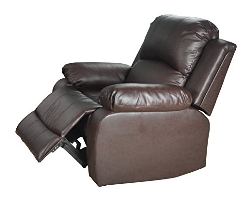 Lifestyle Furniture Utica Reclining Chair, Dark Brown