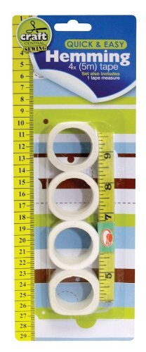 5pack Craft Sewing Hemming Set with Measuring Tape 150cm and 4 x 5mtr Hemming Tape OTL