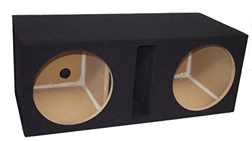 "R/T 300 Enclosure Series (324-10C BT) - Dual 10"" Slot Vented Speaker Box with Blue Tweed Carpet"
