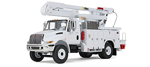 First Gear 1/34 scale Diecast Collectible International DuraStar with Utility Bucket Body (10-3901) (Trucks Utility Bucket)