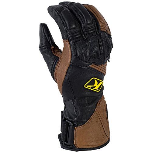 Adventure Gloves - Klim Adventure Men's Dirt Bike Motorcycle Long Gloves - Brown / Large
