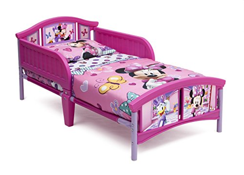 Delta Children Plastic Toddler Bed, Disney Minnie Mouse (Mini Mouse Bed Set)