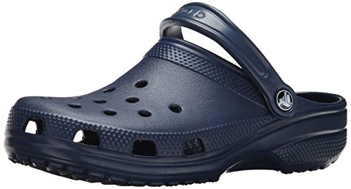- Crocs Men's and Women's Classic Clog, Comfort Slip On Casual Water Shoe, Lightweight, Navy, 10 US Women / 8 US Men