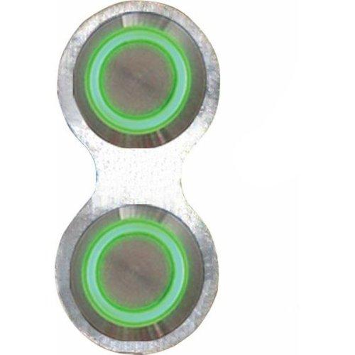 AutoLoc AUTBBB22 Retro Billet Switch with Green LED Illumination