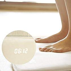Smart Carpet Alarm Clock, Pressure Sensitive Original Rug Alarm Clock - LED Smart Digital Display Battery Operated Nature Sounds for Kids Unisex Heavy Sleeper Home