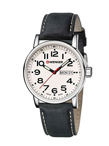 Wenger-010341101-Mens-Attitude-Day-Date-Stainless-Black-Leather-Band-White-Dial-Silver-Watch