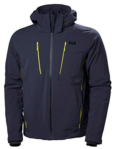 Helly Hansen Men's Alpha 3.0 Waterproof Insulated Ski Jacket, Graphite Blue, Large