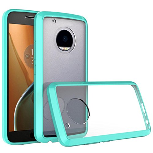 Price comparison product image Dreamyth for MOTO G5 Plus , Anti-Scratch Clear Cover Protective Case (Mint Green)