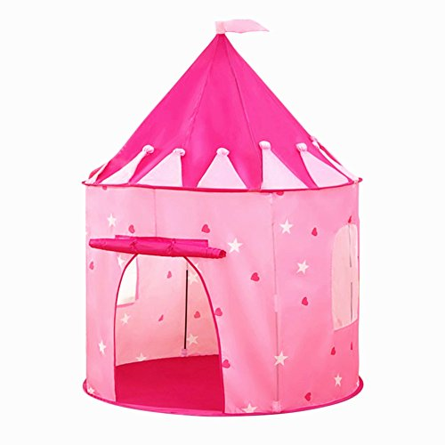 Princess Castle Tent PLAY10 Playhouse Pop-up Children Tent Foldable Tent for Kids Indoor & Outdoor Fun with Zipper Carry (Children Tents)