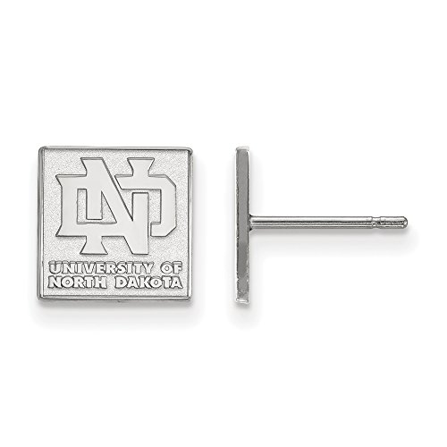 LogoArt 10k White Gold University of North Dakota XS Post Earrings 1W007UNOD by LogoArt