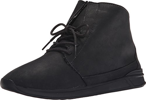 Reef Women's Rover Hi LS Fashion Sneaker, Black/Black, 6 M US