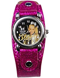 Analog Watch with Metal Face & Glitter Band in Window Box