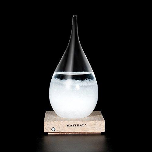 Storm Glass Desktop Drops Craft Bottle Barometer Lamp Home Desk decoration, Creative Gift(Medium) (Top Table Lamp)