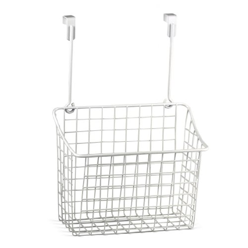 Spectrum Diversified Grid Storage Basket, Large, White (White Steel Door)