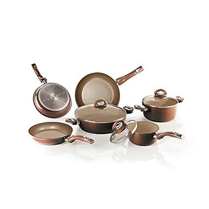 Bialetti aeternum Energy Gold - Batería de cocina (8 puezas, ollas y sartenes)