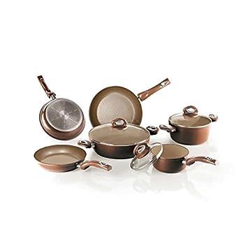 Bialetti aeternum Energy Gold - Batería de cocina (8 puezas, ollas y sartenes): Amazon.es: Hogar
