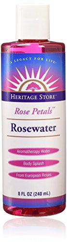 Water-Rosewater Heritage Store 8 oz Liquid (Heritage Store Rose Petals Rosewater)