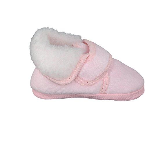 pantau.eu Pantau.eu Gefütterte Babyschuhe Erstlingsschuhe Taufschuhe Babyschühchen Kinderschuhe aus Velours (Nicki) - Gefüttert - Patucos de Terciopelo para niña Rosa