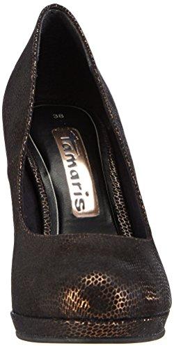 Tamaris 22407 - zapatos de tacón cerrados de material sintético mujer multicolor - Mehrfarbig (Copper Struct. 902)