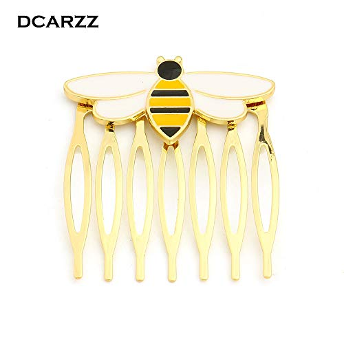 Moonnight Store Bee Miraculous Queen Bee Hairwear,Gold Color Hair Comb for Girls/Women Ladybug Party Supplies Anime Enamel Hair Jewelry Costume (1pcs - gold - Epoxy Miraculous