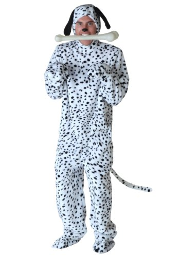 Adult Dalmatian Costume - XL White ()