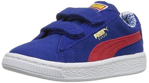 PUMA Suede Superman V Inf Sneaker (Toddler), Limoges/High Risk RE, 5 M US Toddler