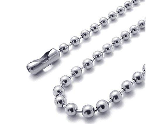 ulooie 2,4 * 10 cm Dia Mini Bead conector cierre bola cadena ...