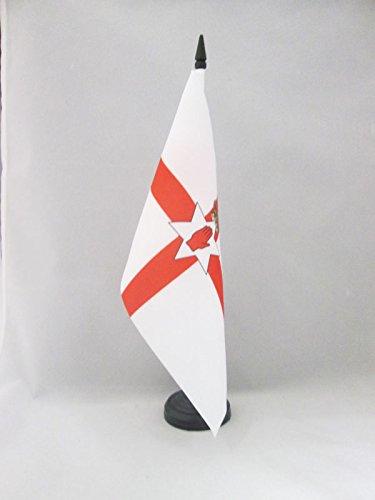 AZ FLAG Northern Ireland Table Flag 5'' x 8'' - Irish Desk Flag 21 x 14 cm - Black Plastic Stick and Base