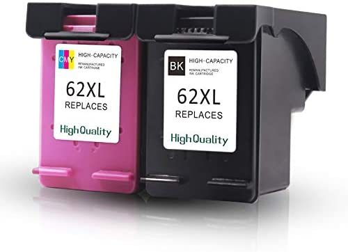M-online Re-Manufactured Ink Cartridge Replacement for HP 62 62XL C2P05AN Used in Envy 5540 5549 5640 5642 5643 5646 5660 5665 7640 7645 OfficeJet 5740 5745 5744 5746 5644 8045 3 Black+2 Tri-Color