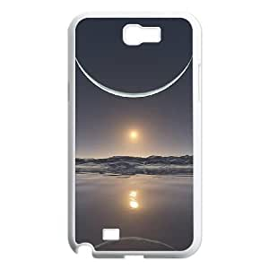 SamSung Galaxy Note2 7100 cell phone cases White Sun and Moon fashion phone cases YEH0726021