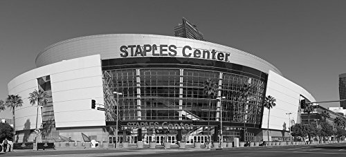 - 24 x 36 B&W Giclee Print of The Staples Center sports arena, home of the Los Angeles Lakers and Clippers professional basketball teams and the Los Angeles Kings pro hockey team. Los 2013 Highsmith 24a