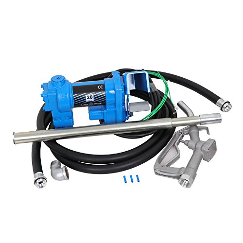Super Deal Gasoline Fuel Transfer Pump 12 Volt DC 20GPM Gas Diesel Kerosene Nozzle ()