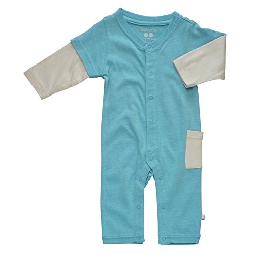 Babysoy Layered One Piece , Ocean 12 18 Months