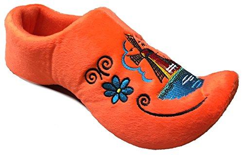 World of Clogs.com Bequem Holländisch Holzschuhe Pantoffeln - Orange Orange