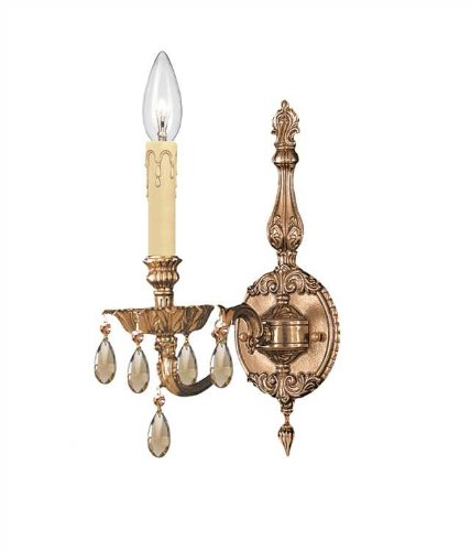 Sconce Novello Light 1 (Crystorama 2501-OB-GTS Crystal Accents One Light Sconces from Novella collection in Brassfinish, 8.50 inches)